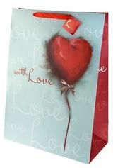 Пакет подарочный Акварельное сердце