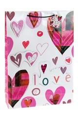 Пакет подарочный Пестрые сердца