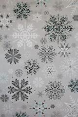 Бумага упаковочная новогодняя Ледяные кристаллики