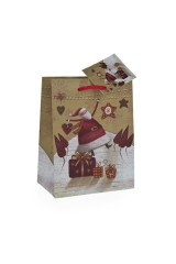 Пакет подарочный новогодний Славный Дед Мороз