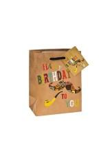 Пакет подарочный Усы и трубка