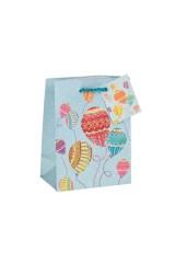 Пакет подарочный Воздушные шары в узорах