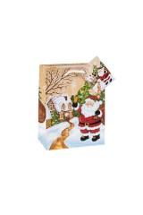 Пакет подарочный новогодний Дед Мороз с колокольчиком