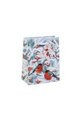 Пакет подарочный новогодний Волшебные снегири
