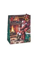 Пакет подарочный новогодний У камина
