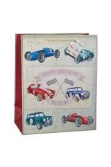 Пакет подарочный Раритетные машины