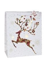 Пакет подарочный новогодний Снежный олень