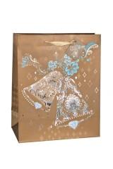 Пакет подарочный новогодний Снежные колокола