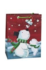 Пакет подарочный новогодний Северные мишки