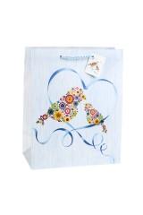 Пакет подарочный Цветочные птицы