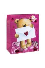 Пакет подарочный Послание от Мишки