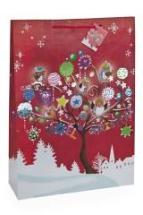 Пакет подарочный новогодний Дерево счастья