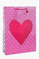 Пакет подарочный Глянцевое сердце