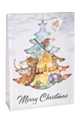 Пакет подарочный новогодний На опушке леса