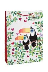 Пакет подарочный Влюбленные туканы