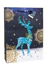 Пакет подарочный новогодний Чудный олень