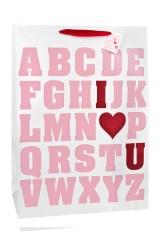 Пакет подарочный Азбука любви