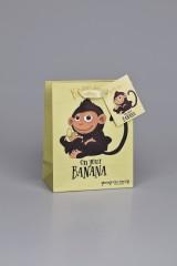 Пакет подарочный Хитрая обезьянка
