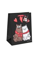 Пакет подарочный Влюбленные коты