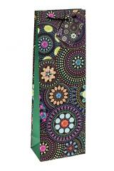 Пакет подарочный для бутылки Цветочная мозаика