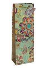 Пакет подарочный для бутылки Восточные цветы