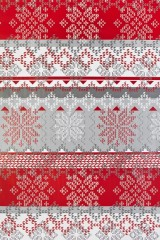 Бумага упаковочная новогодняя Норвежский узор