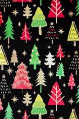 Бумага упаковочная новогодняя Яркие елочки