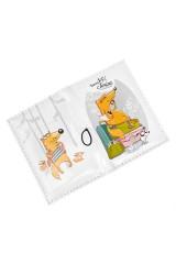 Держатель для дисконтных карт/визиток Лисята-отпускники