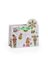 Пакет подарочный новогодний Веселые совы