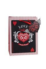 Пакет подарочный Порхающее сердце