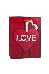 Пакет подарочный Прямо в сердце