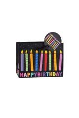 Пакет подарочный Свечи на день рождения