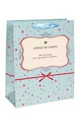 Пакет подарочный Будь счастлив
