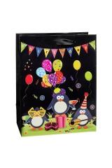 Пакет подарочный Веселые пингвины