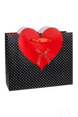 Пакет подарочный Пылкое сердце
