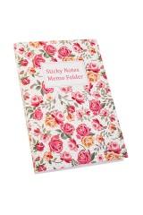 Записная книжка с мемо-листками Нежные розы
