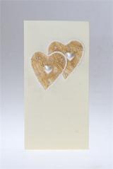 Открытка подарочная Два жемчужных сердечка