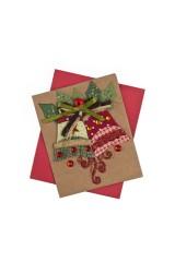 Открытка подарочная новогодняя Рождественские колокольчики