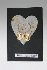 Открытка подарочная Сердце с бантиком