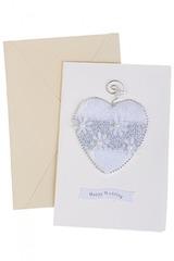 Открытка подарочная Свадебное сердце