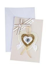 Открытка подарочная Кружевное сердце