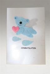 Открытка Голубой мишка