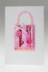 Открытка Розовый пакет