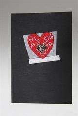 Открытка подарочная Узор на сердце