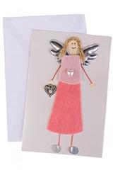 Открытка подарочная Ангел в розовом
