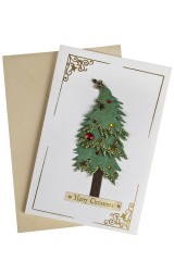 Открытка подарочная новогодняя Пышная елка