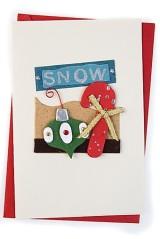 Открытка подарочная новогодняя Елочные игрушки