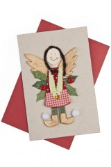 Открытка подарочная Рождественский ангел