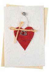 Открытка подарочная Подвесное сердце