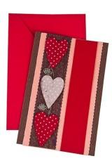 Открытка подарочная Цветные сердечки